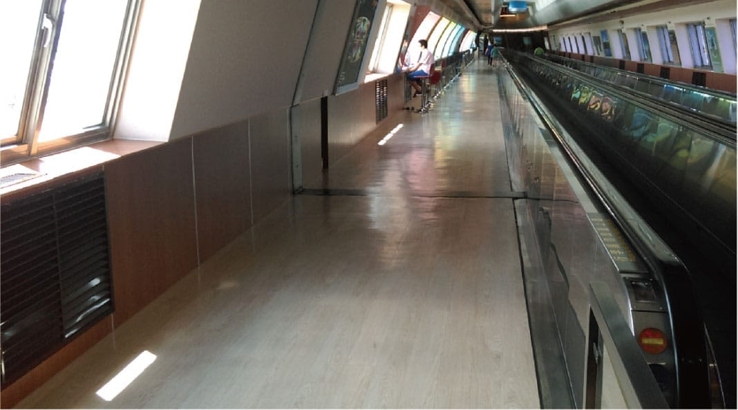 Airport Office vinyl flooring